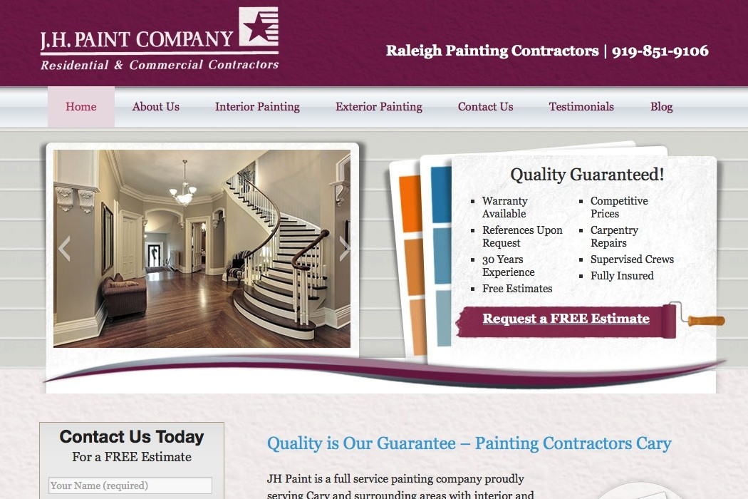 painting contractor websites - pacq.co